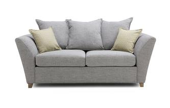 Large 2 Seater Pillow Back Sofa Bed