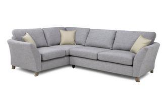 Right Hand Facing 3 Seater Formal Back Corner Sofa