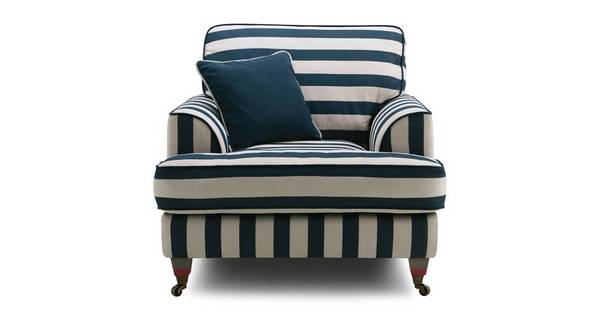 Burnham Harbour-Coastal-Stripe Coastal Stripe Armchair