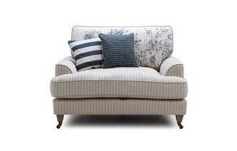 Stripe Cuddler Sofa
