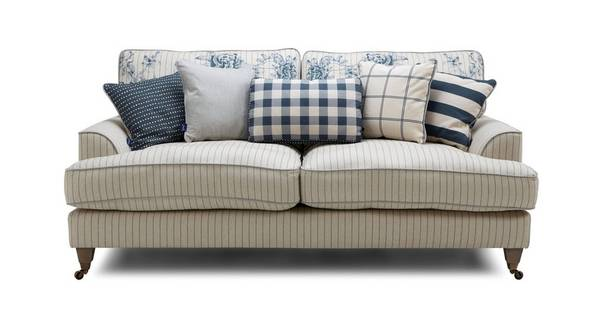 Burnham Stripe 3 Seater Sofa