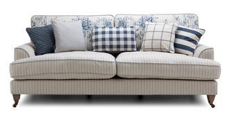 Burnham Stripe 4 Seater Sofa