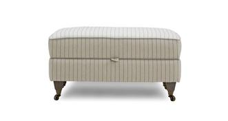 Burnham Stripe Storage Footstool