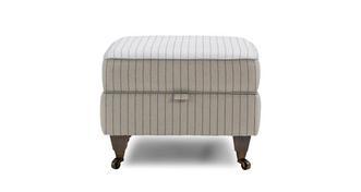 Burnham Stripe Compact Storage Footstool
