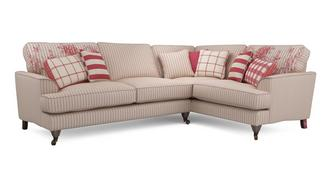 Burnham Stripe Left Hand Facing 3 Seater Corner Sofa