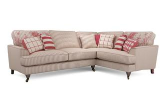 Stripe Left Hand Facing 3 Seater Corner Sofa Burnham Stripe