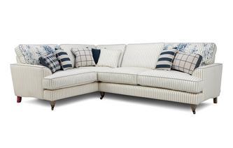 Cotton Stripe Right Hand Facing 3 Seater Corner Sofa Burnham Cotton Stripe