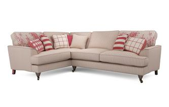 Stripe Right Hand Facing 3 Seater Corner Sofa Burnham Stripe