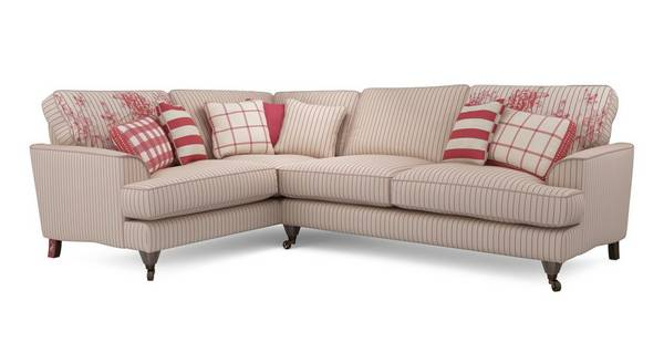 Burnham Stripe Right Hand Facing 3 Seater Corner Sofa