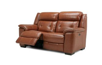 2 Seater Electric Recliner Brazil with Leather Look Fabric