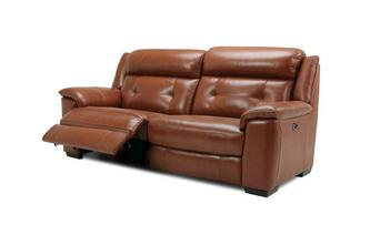 3 Seater Electric Recliner Brazil with Leather Look Fabric