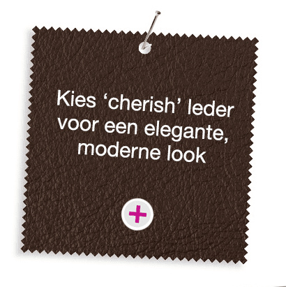 Choose 'cherish' leather for a sleek, modern look