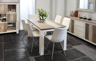 Cabrilo Medium Fixed Dining Table & Set of 4 Ambra Chairs Cabrilo Chair