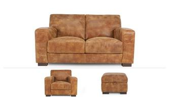 Caesar Clearance 2 Seater Sofa, Chair & Stool Outback
