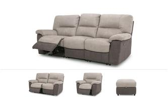 Caldbeck Clearance 3 & 2 Seater Sofa, Recliner Chair & Footstool Arizona