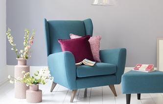 Calm Wing Chair Brushed Plain