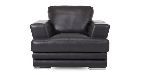 Calvino Leather and Leather Look Armchair Le Mans