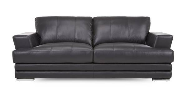 Calvino 3 Seater Leather and Leather Look Sofa