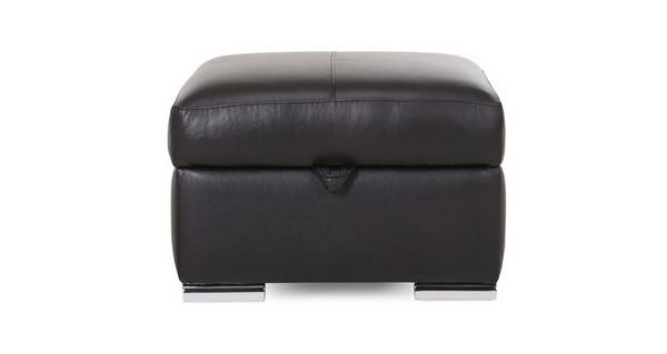 Calvino Leather and Leather Look Storage Footstool