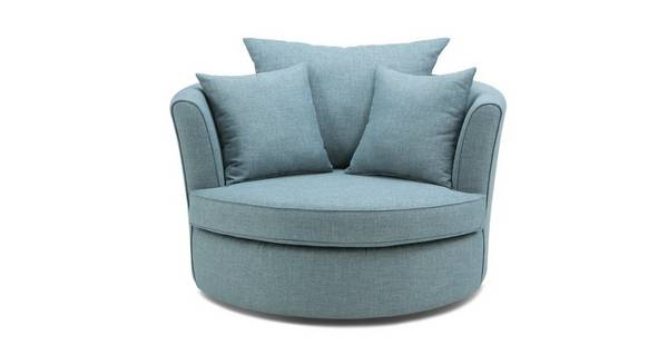 Calypso Large Swivel Chair with Plain Scatters