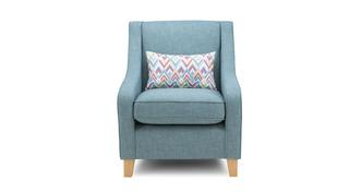 Calypso Accent Chair with Pattern Bolster
