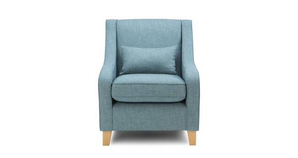 Calypso Accent Chair with Plain Bolster