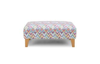 Pattern Banquette Footstool Calypso Scatter