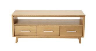 Camber TV Unit 3 Drawer 1 Shelf