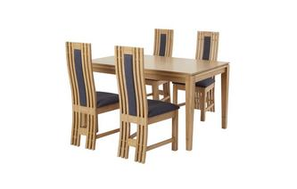 Extending Table & Set of 4 Dining Chairs Camber