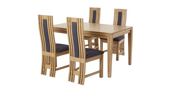 Camber Extending Table & Set of 4 Dining Chairs