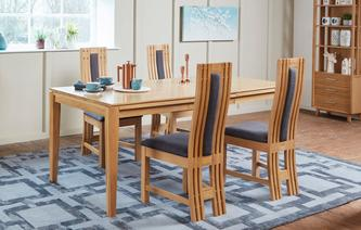 Camber Extending Table & Set of 4 Dining Chairs Camber