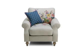 Cotton Armchair Cambridge Plain and Floral Cotton