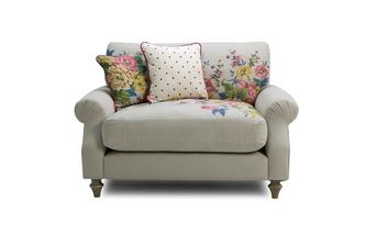 Cotton Cuddler Sofa Cambridge Plain and Floral Cotton