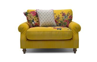 Velvet Cuddler Sofa Cambridge Plain and Floral Velvet