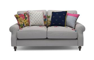 Cotton 2 Seater Sofa Cambridge Plain and Floral Cotton