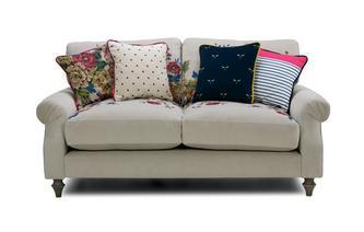 Velvet 2 Seater Sofa Cambridge Plain and Floral Velvet