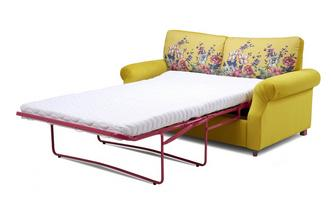 Velvet 2 Seater Supreme Sofa Bed Cambridge Plain and Floral Velvet