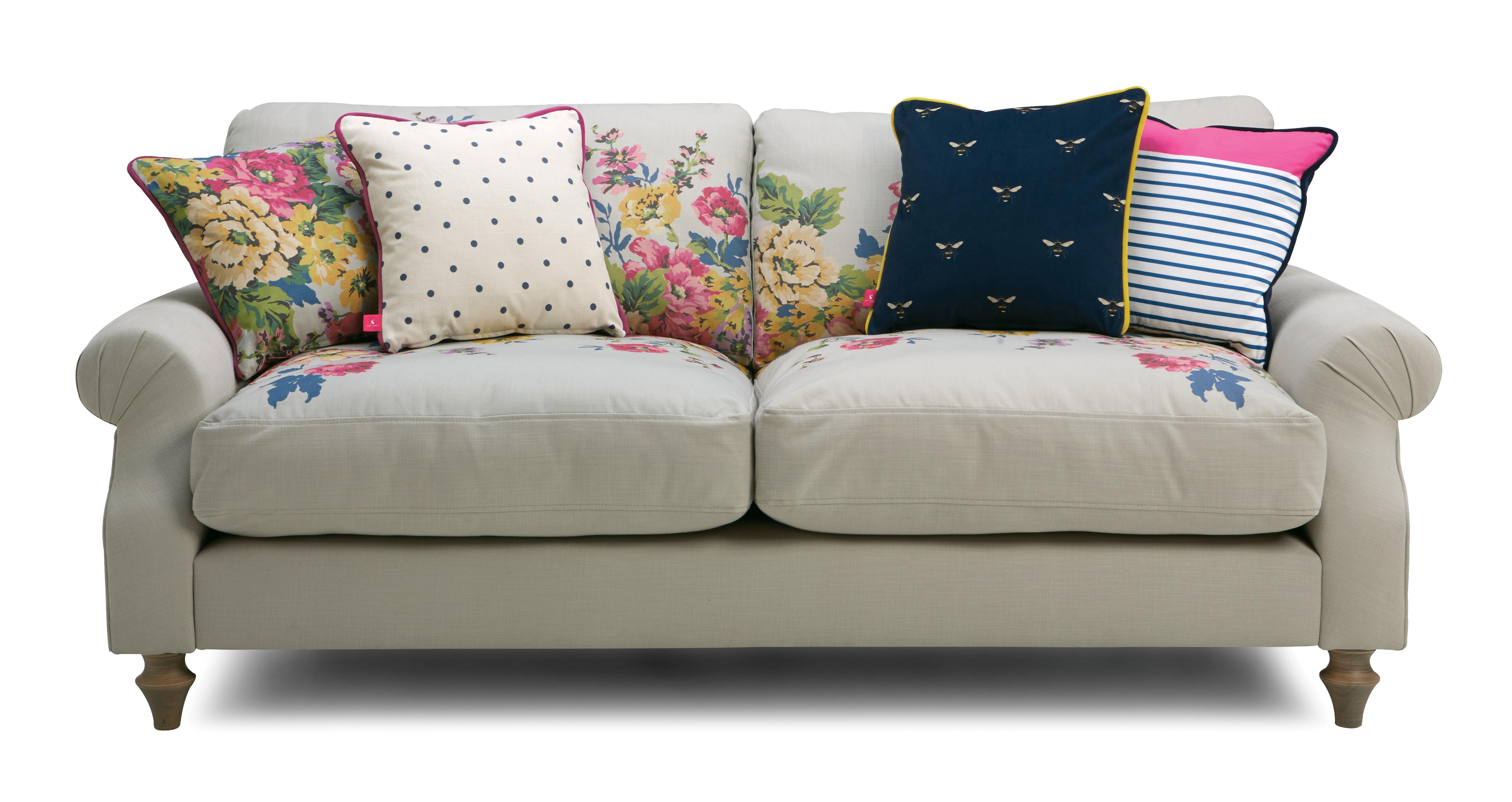 Cambridge Cotton 3 Seater Sofa Cambridge Plain And Floral
