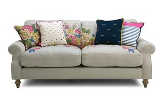 Cotton 3 Seater Sofa Cambridge Plain and Floral Cotton