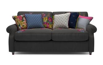 Cambridge Velvet 3 Seater Supreme Sofa Bed Cambridge Plain and Floral Velvet