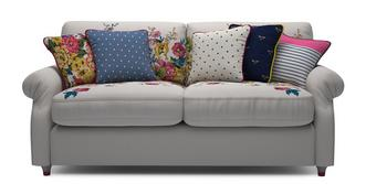Cambridge Velvet 3 Seater Supreme Sofa Bed