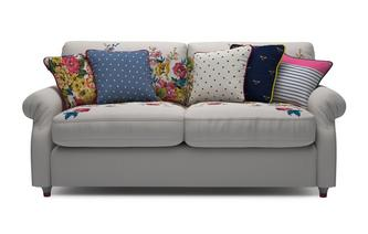 Velvet 3 Seater Supreme Sofa Bed Cambridge Plain and Floral Velvet