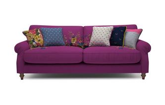 Cambridge Cotton 4 Seater Sofa Cambridge Plain and Floral Cotton