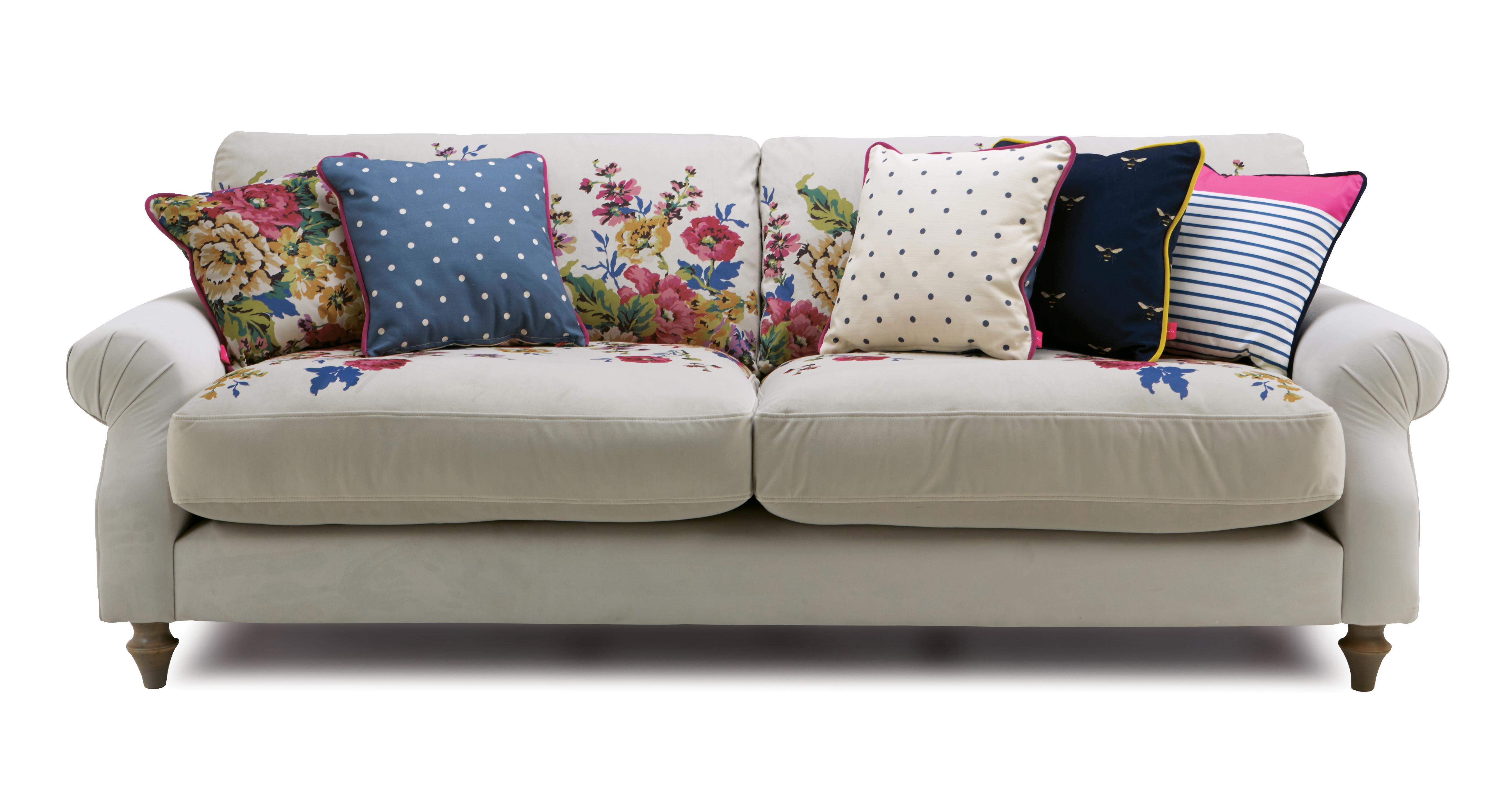 Cambridge Velvet 4 Seater Sofa Cambridge Plain And Floral Velvet Dfs