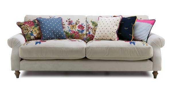 Cambridge Velvet 4 Seater Sofa