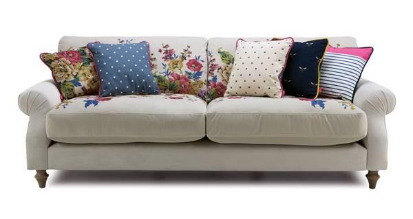 Cambridge Velvet 4 Seater Sofa