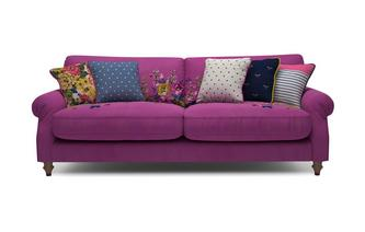 Cambridge Velvet 4 Seater Sofa Cambridge Plain and Floral Velvet
