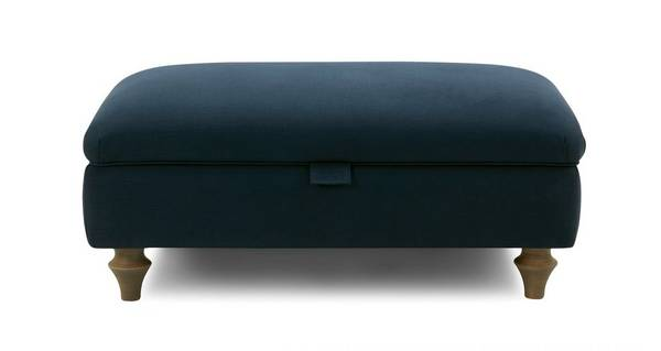 Cambridge Cotton Storage Footstool