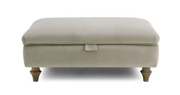 Cambridge Velvet Storage Footstool