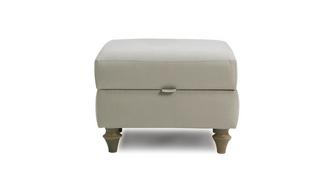 Cambridge Cotton Compact Storage Footstool